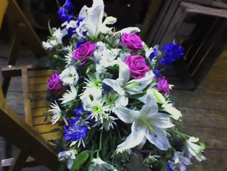 White, Blue and Purple Double Ended Sheaf